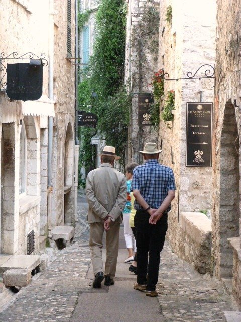 Visitors in St Paul de Vence