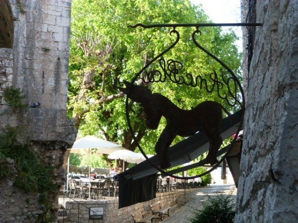 donkey sign in St Paul de Vence