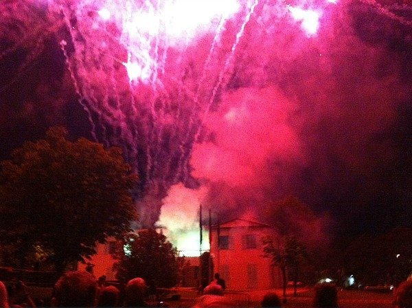 fireworks in Roquefort les Pins French Riviera