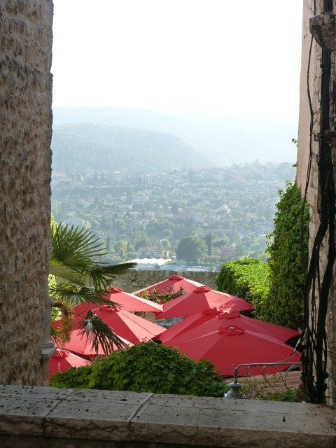 restaurant with view in St Paul de Vence