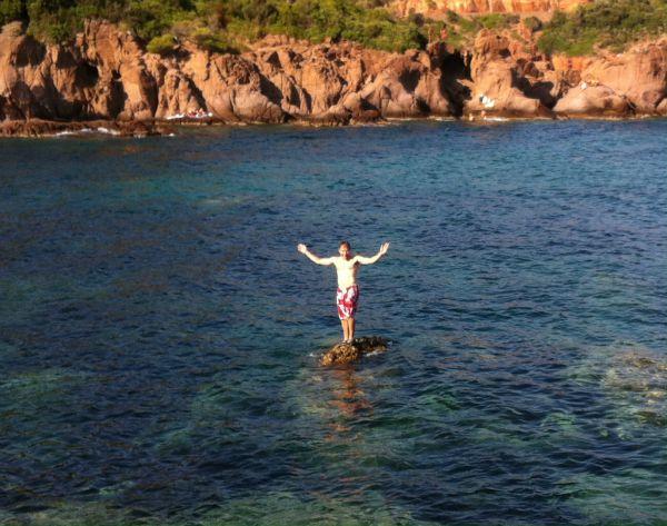 Calanques Maupas rock island