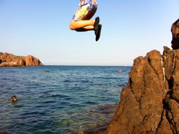 Esterel rock jumping