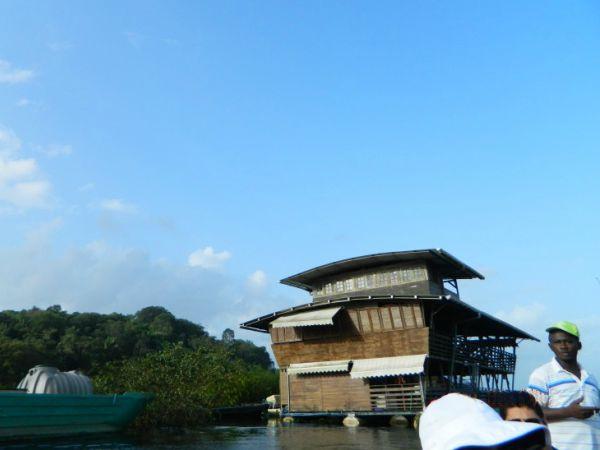 floating carbet in Guyana