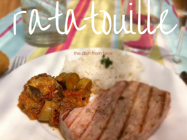 ratatouille served with grilled tuna