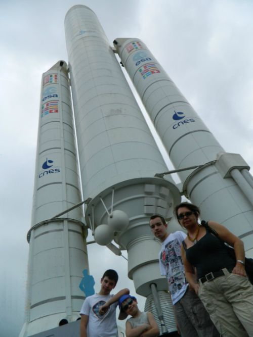 space rocket in French Guyana