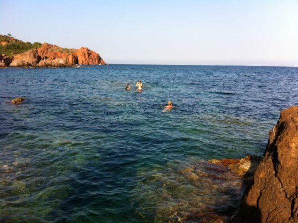 swimming in the Esterel