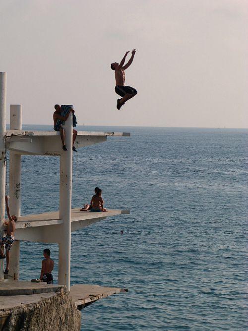 the old plongeoir in Nice
