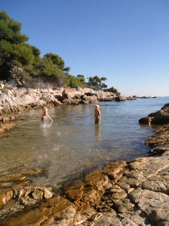 beach Sainte Marguerite island Cannes
