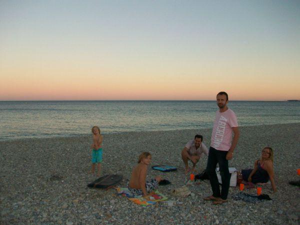 evening on Villeneuve Loubet beach