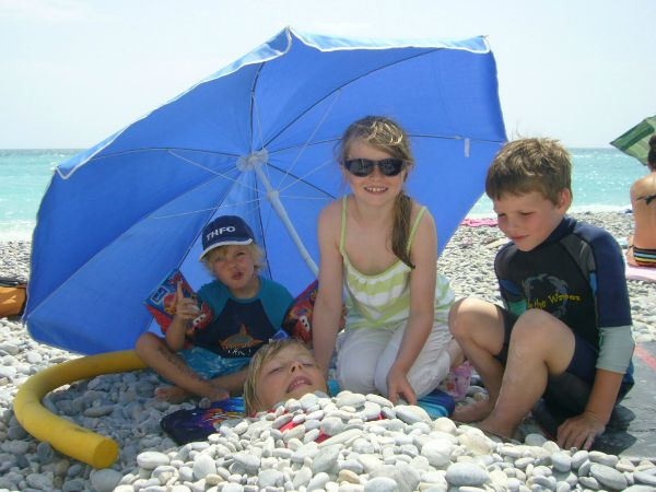 fun on Villeneuve Loubet beach