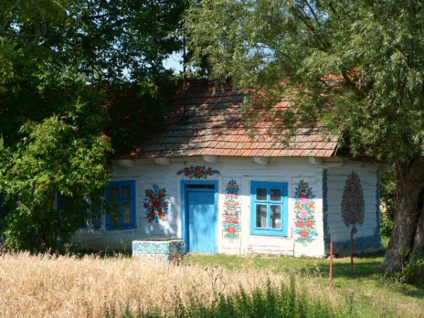 painted house in Zalipie Malopolska Poland