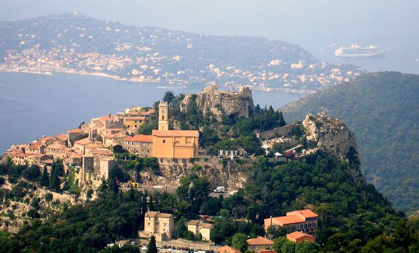 Eze village viewed from Grand Corniche