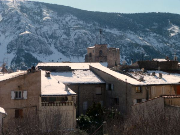 Gréolières in snow