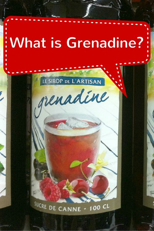 Grenadine a French syrup for childrens drinks