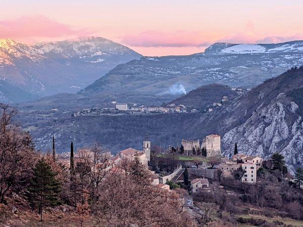 Gréolières and Cipères villages in mountains