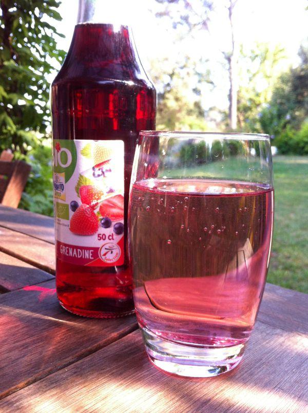 glass of grenadine