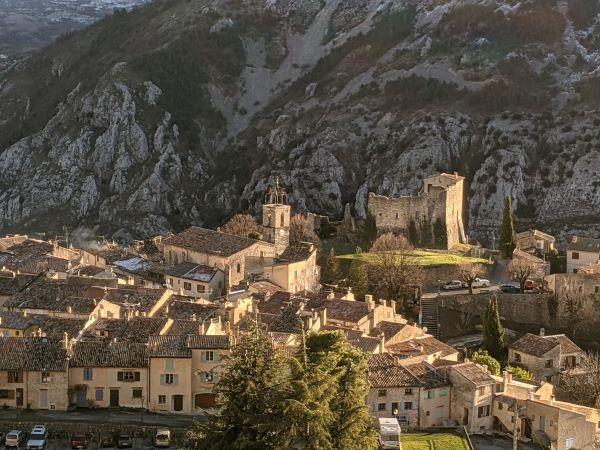 Gréolières hill village near Nice