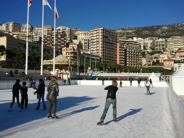 Christmas skating rink Monaco