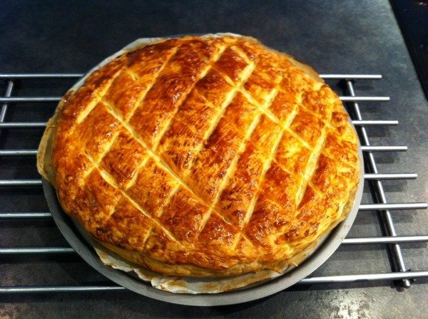 galette des rois from the oven