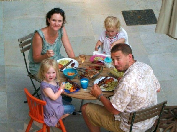 family with toddlers at Lou Messugo gite