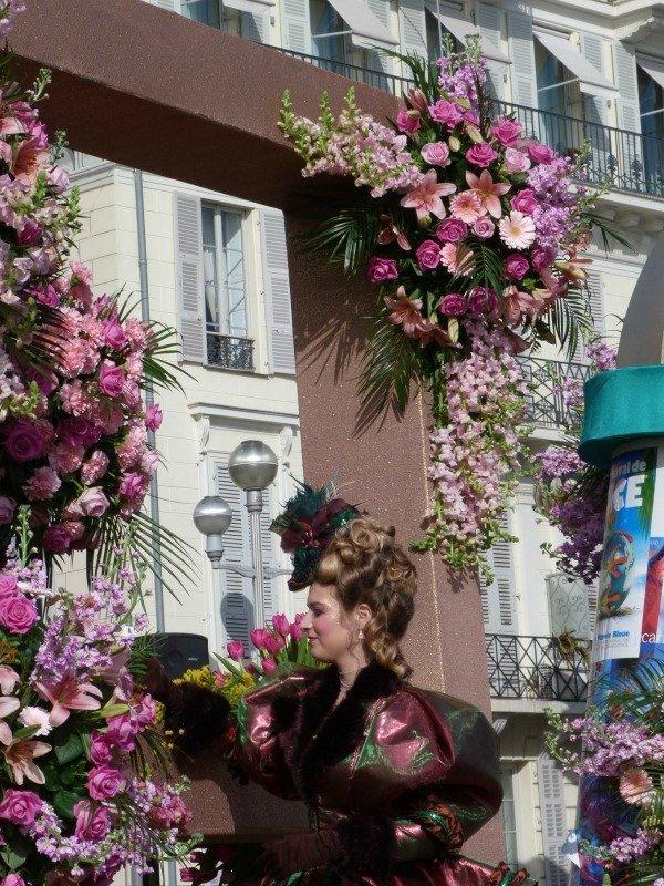 flower float at Nice carnival