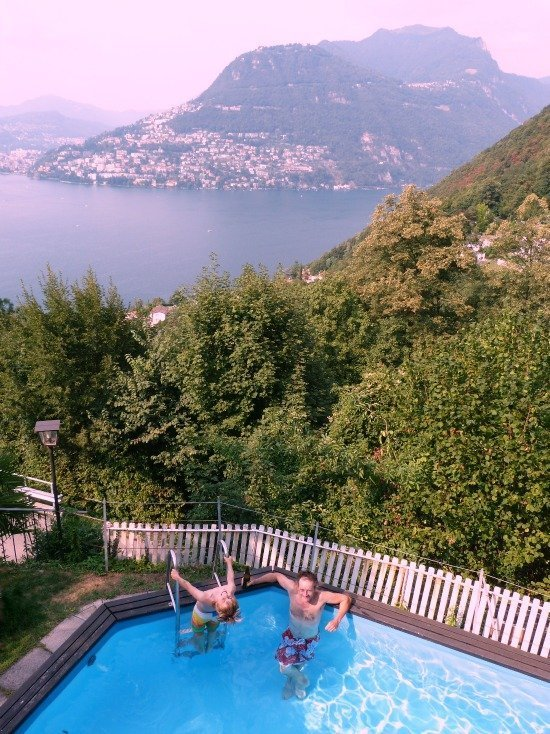 Pool at Hotel Panorama Lugano