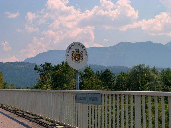 Swiss Liechtenstein border