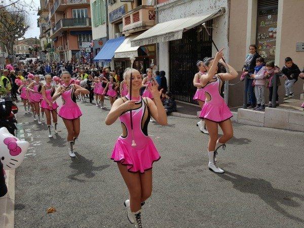 Vence carnival majorettes