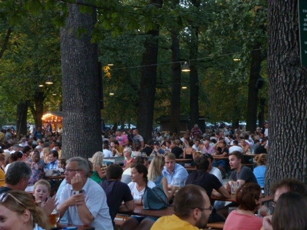 biergarten in Munich