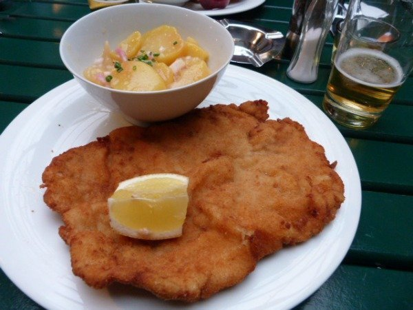 schnitzel lunch 3 meal 3 countries