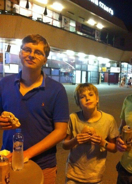 snack at Bratislava station