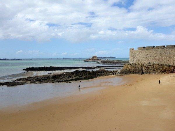 St Malo beach Brittany