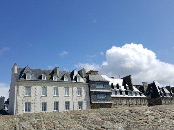 St Malo blue sky