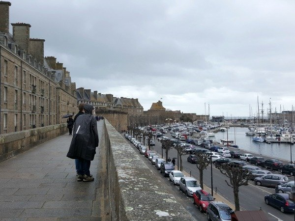 St Malo on the ramparts