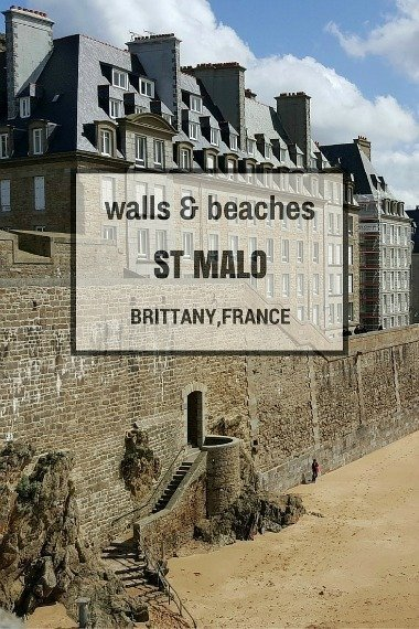 walls beaches of St Malo Brittany France