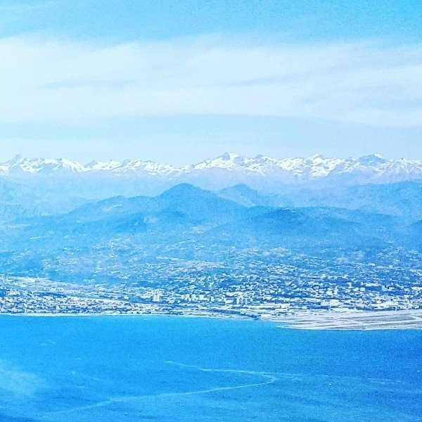 Nice Airport Baie des Anges and Alps