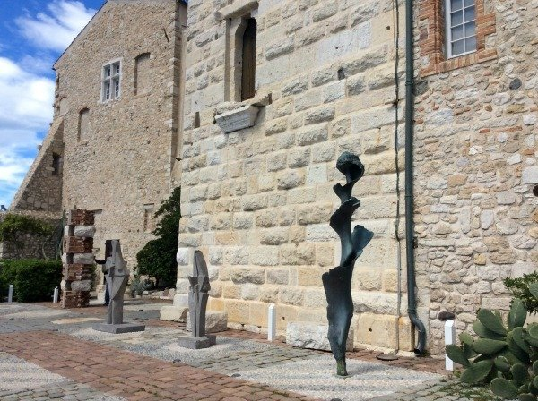sculptures at Picasso museum