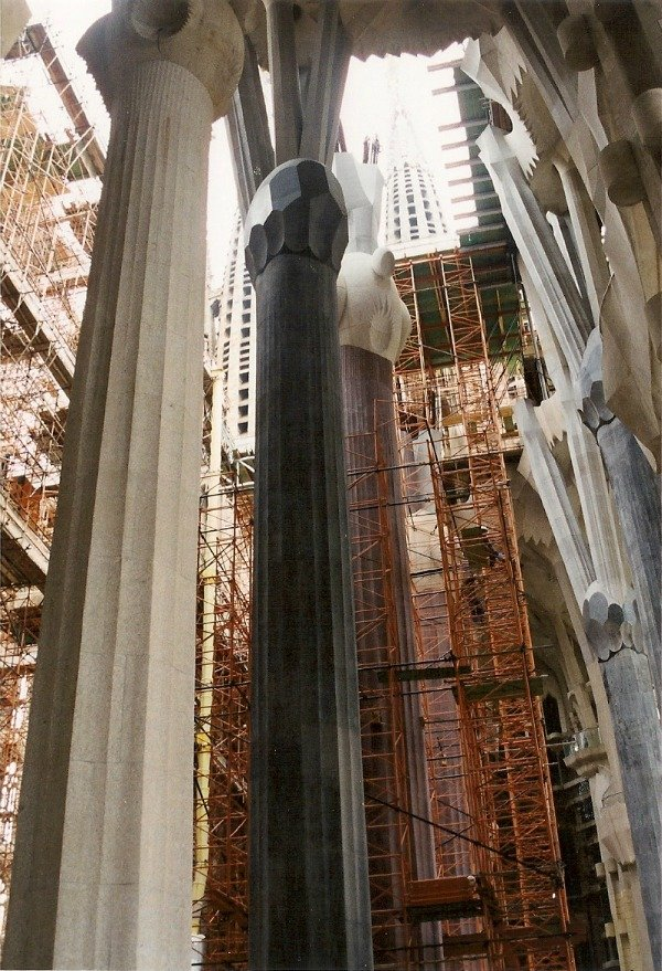 Sagrada Familia inside 2001