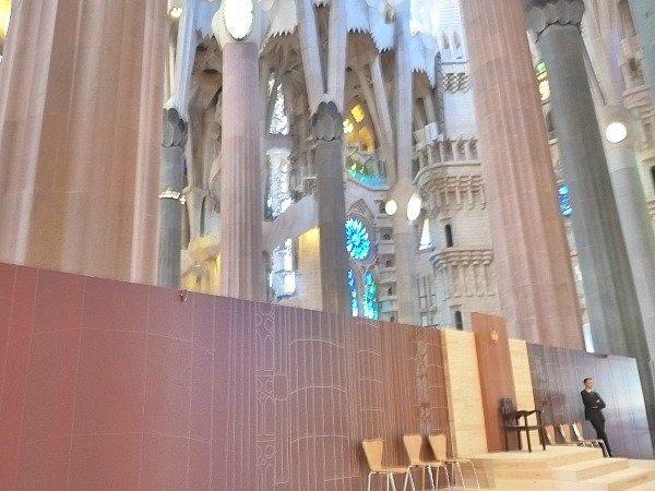 Sagrada Familia internal works 2016
