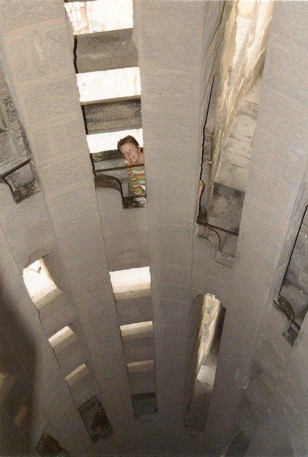Sagrada Familia stairs 2001