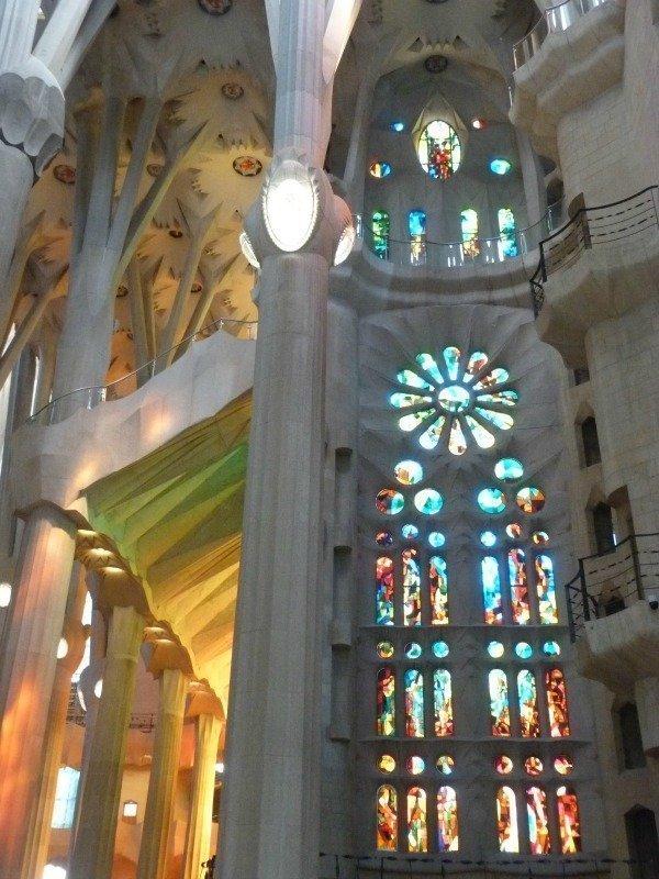 Sagrada Familia windows and columns