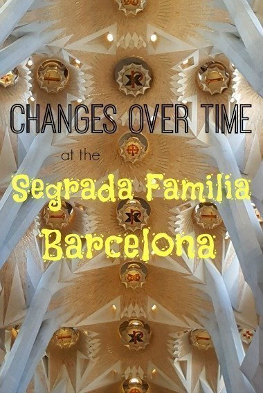 Segrada Familia changes in 15 years