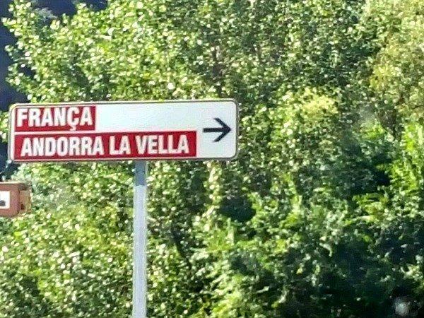 Andorra street sign