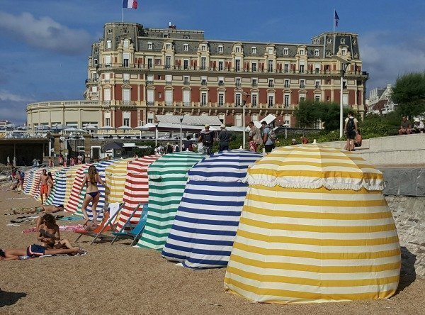 Biarritz beach tents