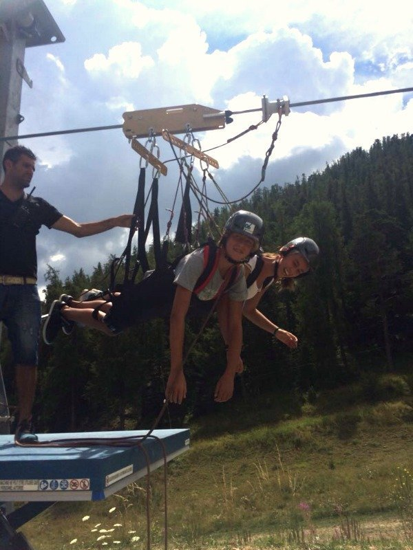 ready to fly on Frances longest zipwire