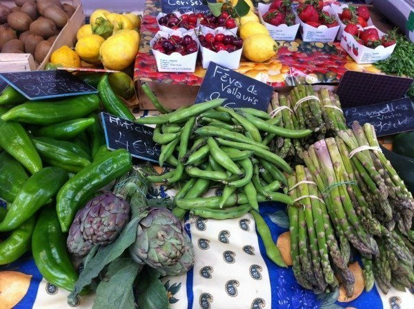 vegetables in a Provencal market