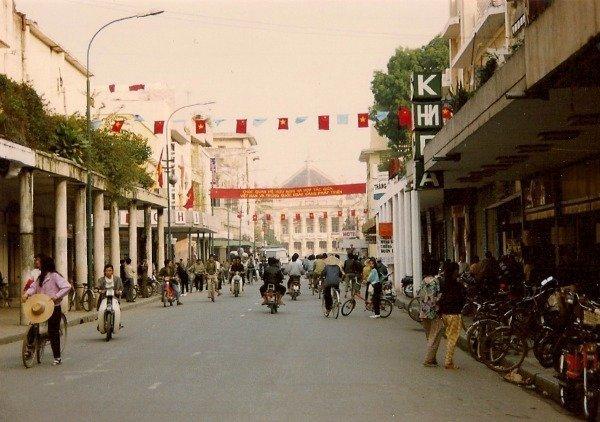 Trang Tien street Hanoi 1992
