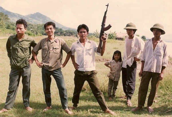 soldiers near Hanoi 1992