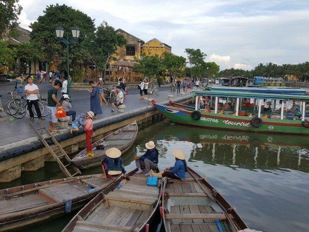 evening river scene Hoi An Vietnam