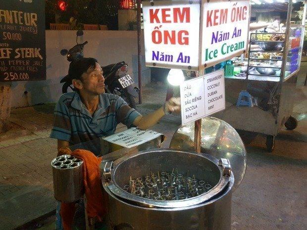 ice cream seller Hoi An Vietnam